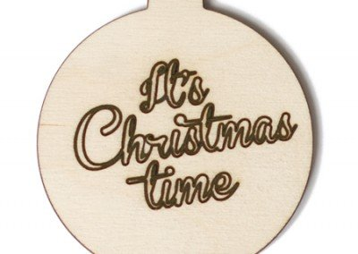 """Kerstbal of onderzetter met """"Eigen tekst"""""""