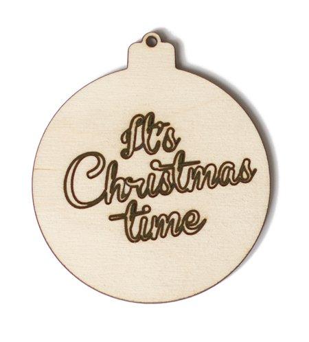 Kerstbal CHRISTMAS engraved - Berken multiplex