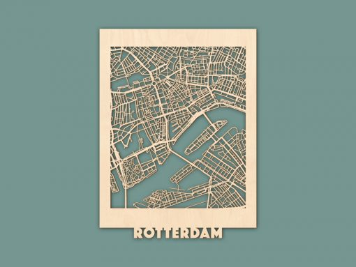 Citymap Rotterdam Berken (30x40) RENDER
