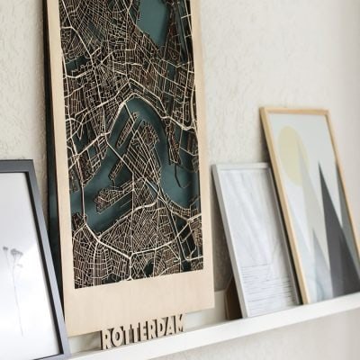 Citymap Rotterdam Berken (50x70)