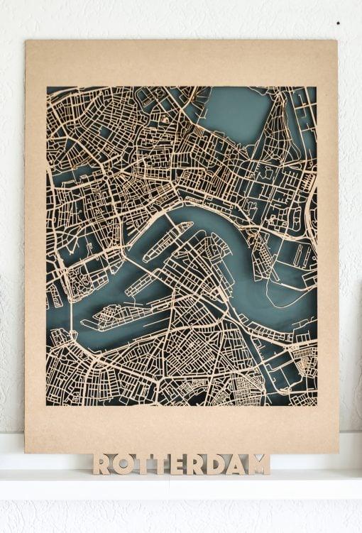 Citymap Rotterdam MDF (50x70)