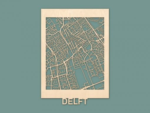 Citymap Delft Berken (50x70) RENDER