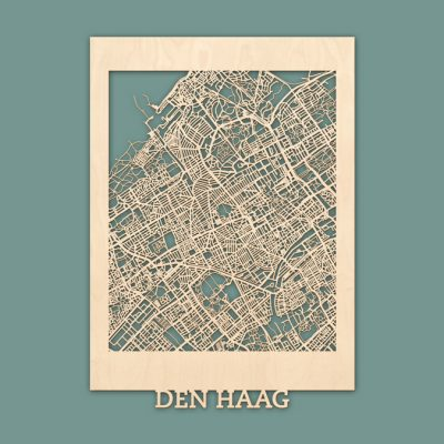 Citymap Den Haag Berken (50x70) RENDER