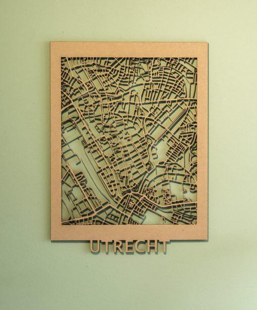 Citymap Utrecht MDF (30x40)