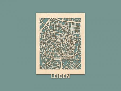 Citymap Leiden Berken (30x40) RENDER