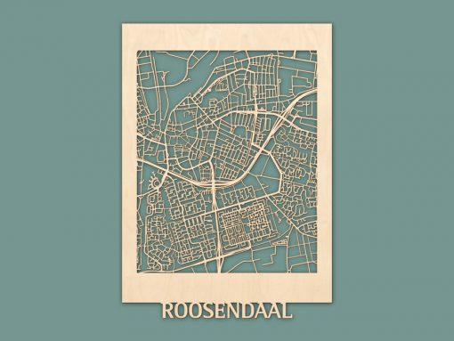 Citymap Roosendaal Berken 50x70 RENDER