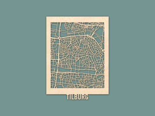Citymap Tilburg Berken (30x40) RENDER