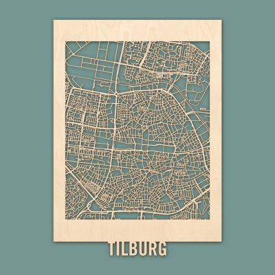 Citymap Tilburg Berken (50x70) RENDER