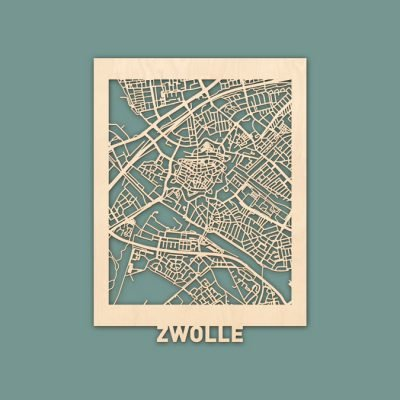 Citymap Zwolle Berken (30x40) RENDER