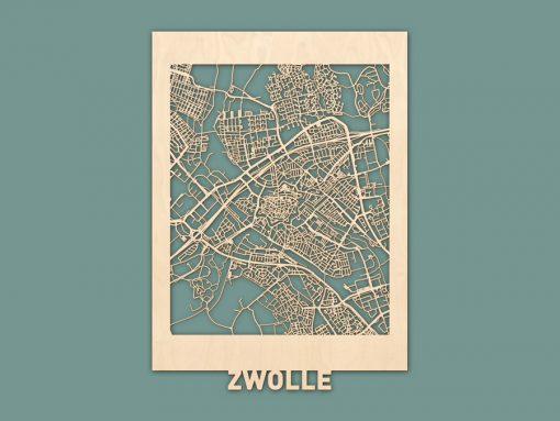 Citymap Zwolle Berken (50x70) RENDER