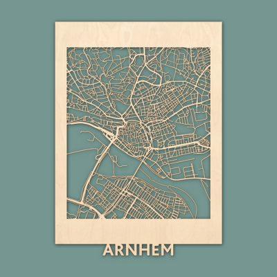 citymap Arnhem berken 50x70 render