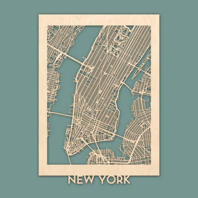 citymap New York berken 50x70 render