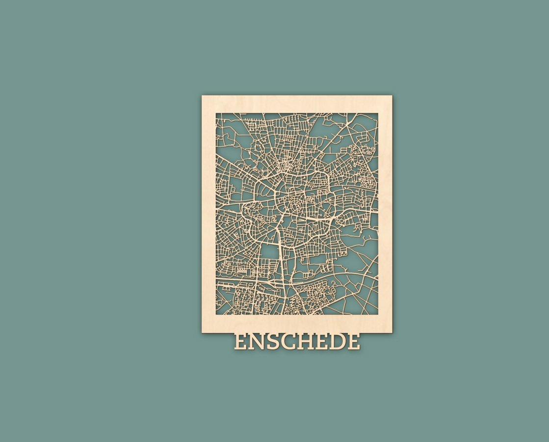citymap enschede 30x40cm maackt