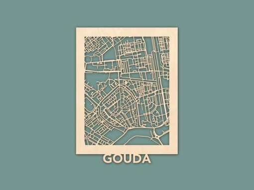 Citymap Gouda Berken (30x40) RENDER