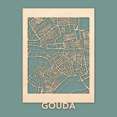 Citymap Gouda Berken (50x70) RENDER