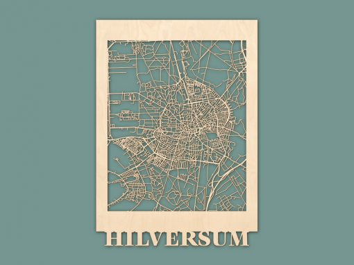Citymap Hilversum Berken 50x70 RENDER