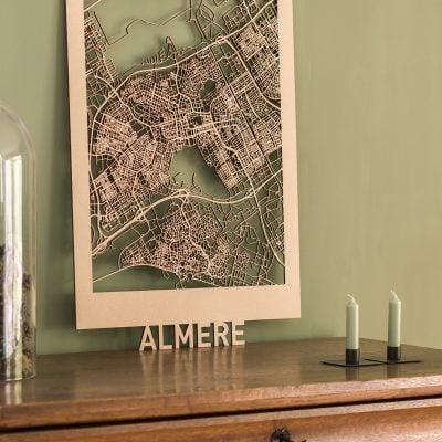 Citymap Almere 50x70 MDF