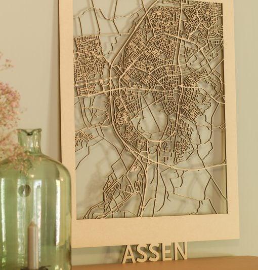 Citymap Assen 50x70 MDF