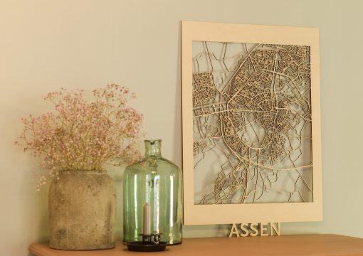 Citymap Assen-50x70-MDF
