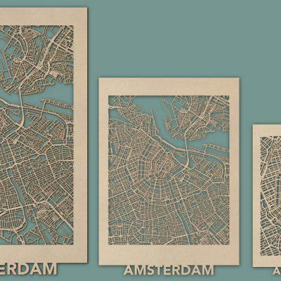 Citymap Amsterdam MDF XL (60x95cm) Render