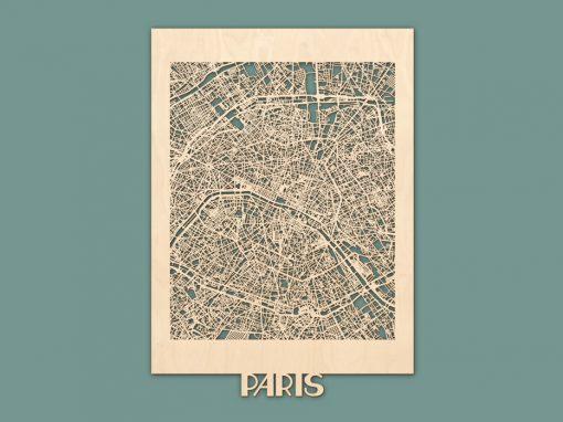 Citymap Paris 50x70 Berken Render
