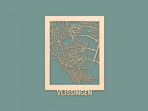 Citymap Vlissingen 30x40 Berken Render