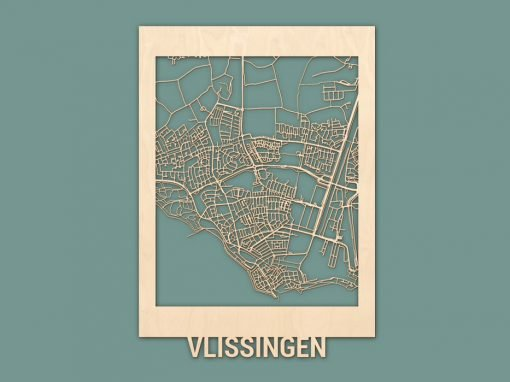 Citymap Vlissingen 50x70 Berken Render