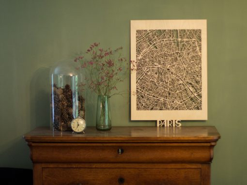 Citymap Paris 50x70 Berken