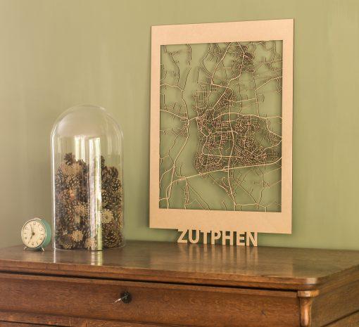 Citymap Zutphen-50x70-MDF
