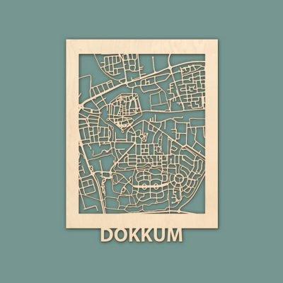 Citymap Dokkum 30x40cm Berken (RENDER)