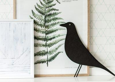 Vogel 3mm zwart MDF (L)