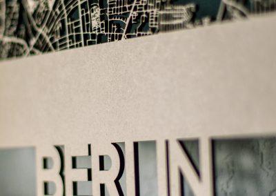 Citymap Berlin 50x70cm MDF