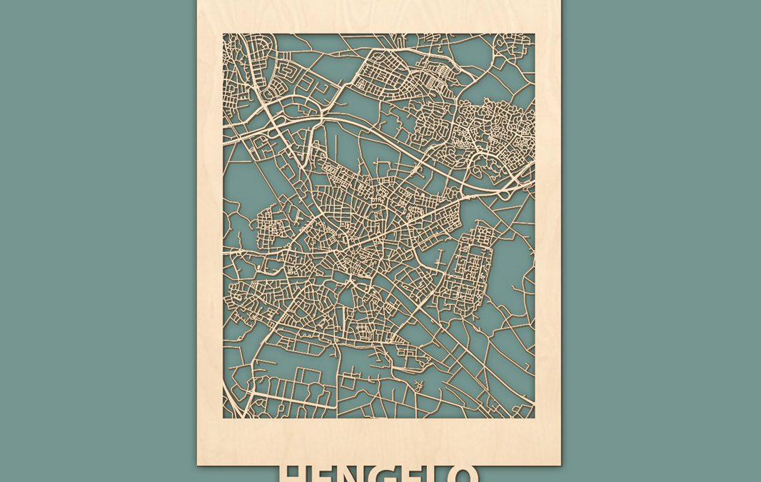 Citymap Hengelo (50x70cm)