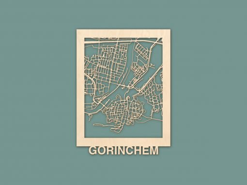 Citymap Gorinchem Berken 30x40cm RENDER