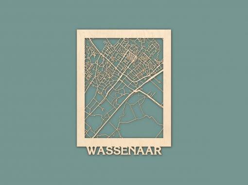 Citymap Wassenaar Berken 30x40cm RENDER