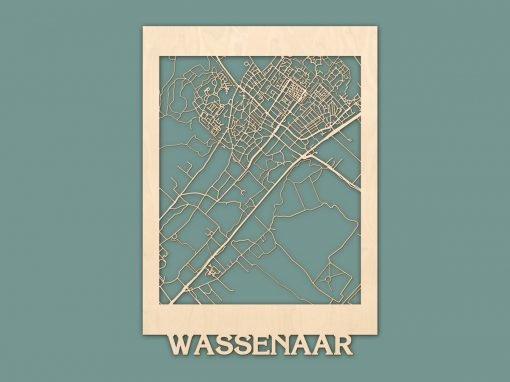 Citymap Wassenaar Berken 50x70cm RENDER