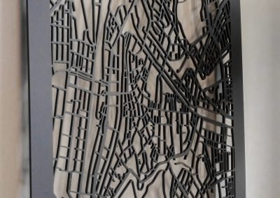 Citymap 's Hertogenbosch 50x70cm citymap mat antraciet perspex