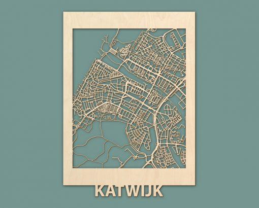 Citymap Noordwijk Katwijk Oostduinkerke De Haan Berken 50x70 RENDER 02