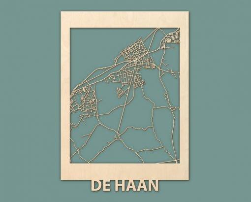 Citymap Noordwijk Katwijk Oostduinkerke De Haan Berken 50x70 RENDER 03