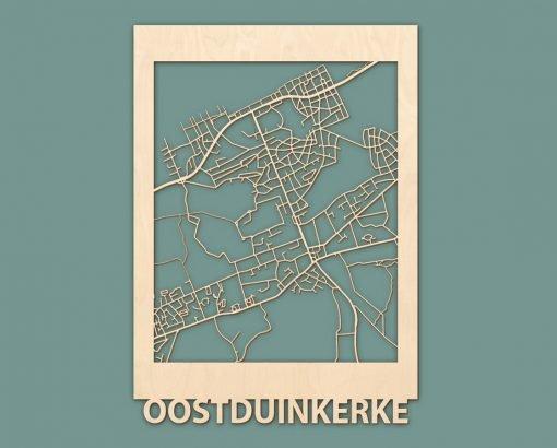 Citymap Noordwijk Katwijk Oostduinkerke De Haan Berken 50x70 RENDER 04