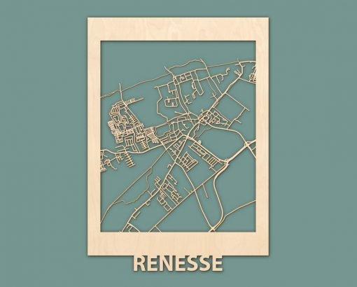 Citymap Renesse Scheveningen Nieuwpoort Blankenberge Berken 50x70 RENDER 01