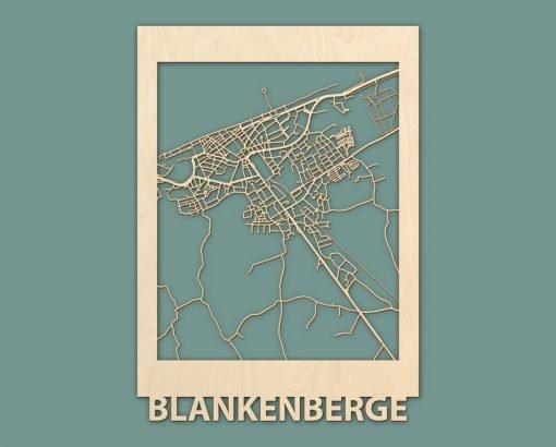 Citymap Renesse Scheveningen Nieuwpoort Blankenberge Berken 50x70 RENDER 02