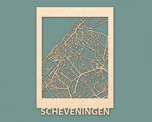 Citymap Renesse Scheveningen Nieuwpoort Blankenberge Berken 50x70 RENDER 04