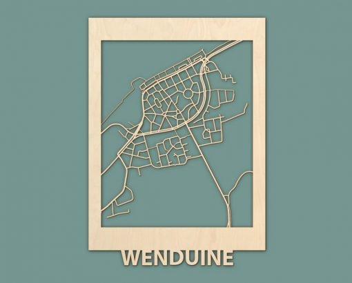 Citymap Westende Wenduine Sint Idesbald Callantsoog Egmond Ouddorp Berken 50x70 RENDER 02