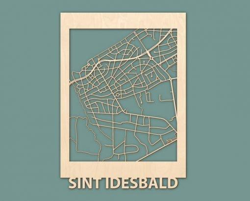 Citymap Westende Wenduine Sint Idesbald Callantsoog Egmond Ouddorp Berken 50x70 RENDER 03