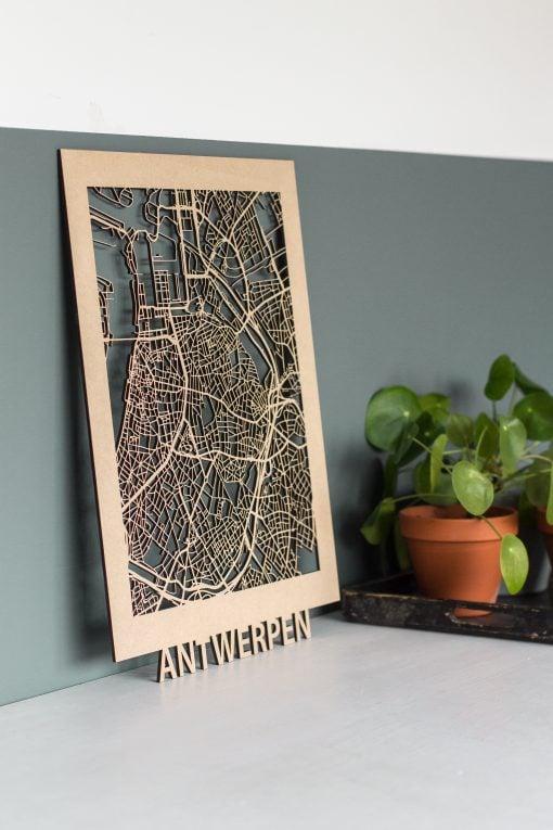 Citymap Antwerpen 30x40 MDF