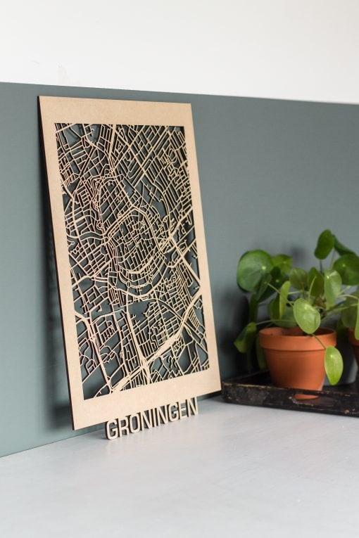 Citymap Groningen 30x40 MDF 10
