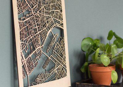 Citymap Rotterdam 30x40 MDF-2