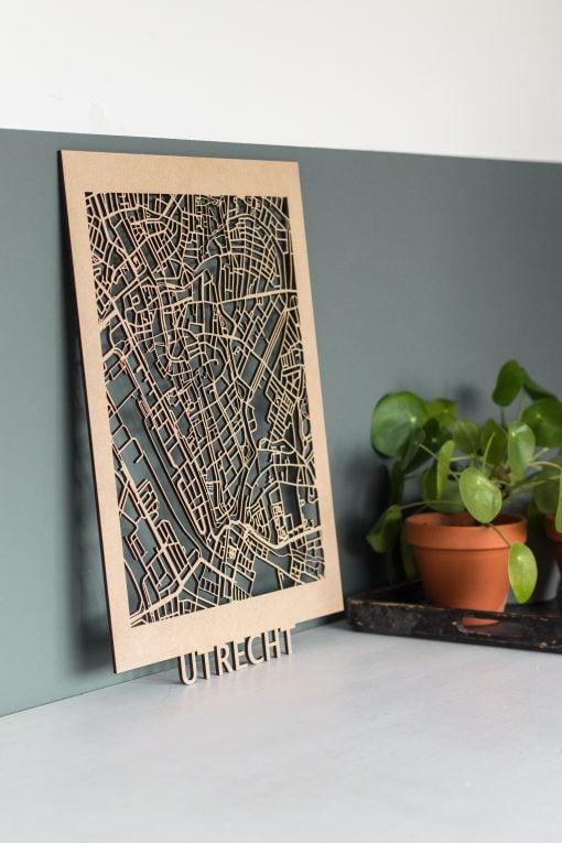 Citymap Utrecht 30x40 MDF