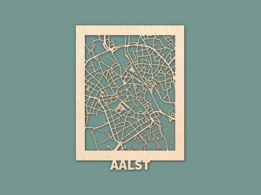 Citymap Aalst (BE) Berken (30x40cm) RENDER